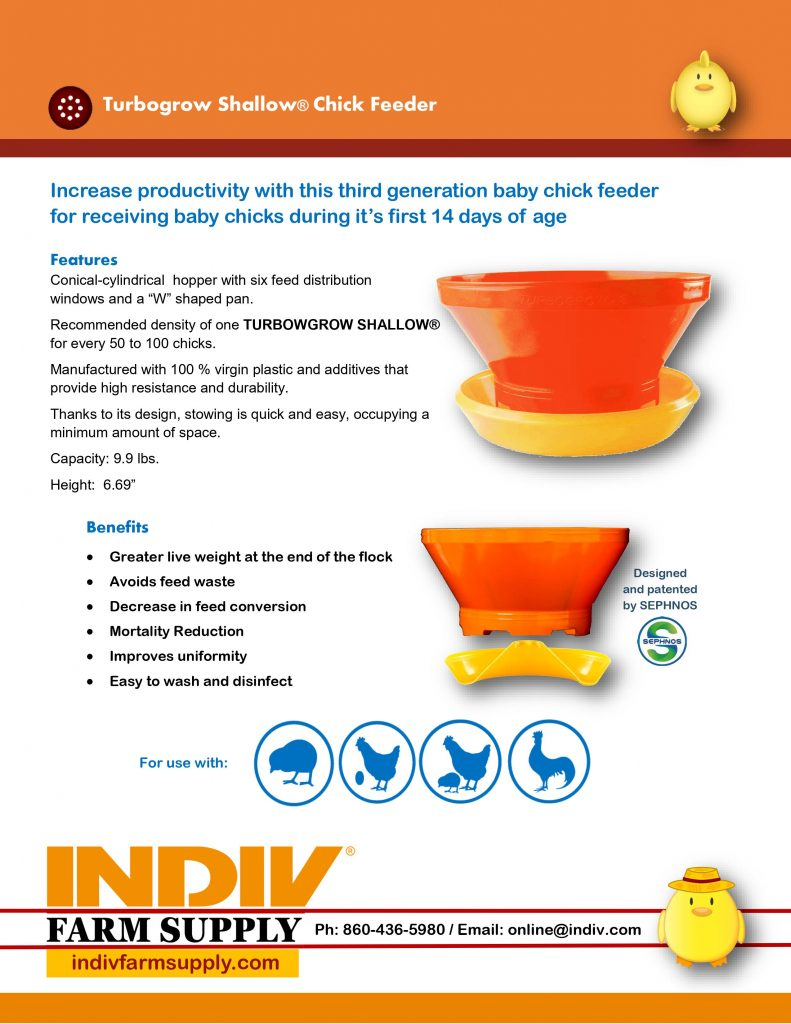 turbogrow shallow chick feeder resources